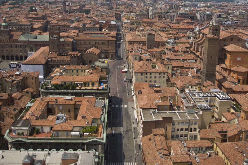 Bologna Aerial View Architecture Building Exterior Built Structure City Cityscape Crowded Day High Angle View Italy Outdoors Residential  Residential Building Roof Town Travel Destinations