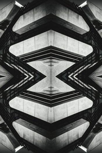 Architecture Built Structure Architectural Feature Art Blackandwhite Modern Kaleidoscope Black And White Architectural Detail Geometric Shape Symmetry Design Monochrome EyeEm Best Shots EyeEm Gallery TakeoverContrast Angles And Lines Abstractart