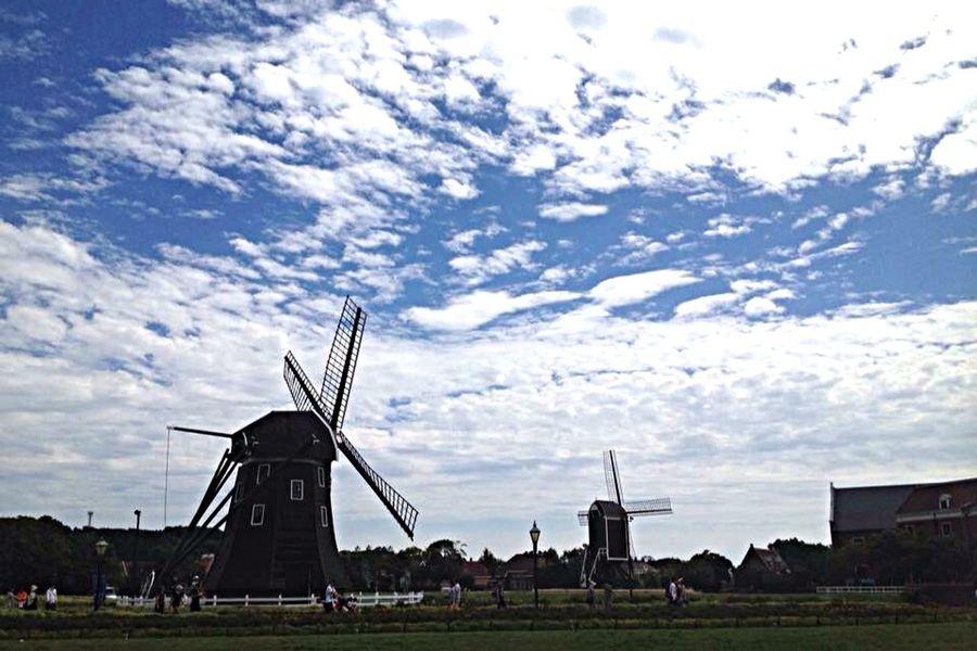 Windmill Sky 長崎 ハウステンボス 快晴 Nagasaki Sasebo Windmills Holiday Holidays