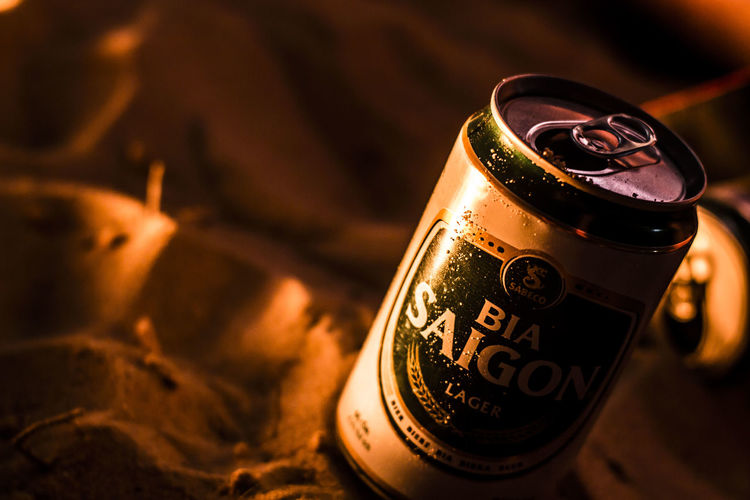 Beach Beer ;) Adventure Backpacking Beache Beer Beercan Bonfire Bro Camping Can Close-up Evening Freedom Friendship Goodlife Goodnigth Highlife Hippie ✌ Hippiekids Night No People Saigon, Vietnam Sand Thelittlethings Traveling Vietnam Live For The Story