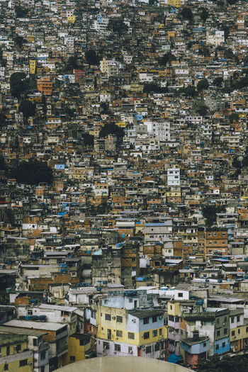Brazil Poor  Rocinha Architecture Building Exterior Built Structure City Cityscape Community Crowded Danger Day Density Of Population Favela House Migration Outdoors Overcrowded People Population Explosion Poverty Residential Building