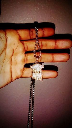 Gold Chain  JESUS PEICE Shine Bright Like A Diamond  NECK GAME
