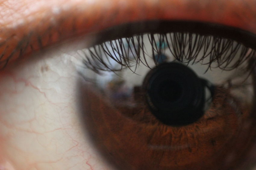 Close-up Day Extreme Close-up Eyeball Eyelash Eyesight Human Body Part Human Eye Iris - Eye Macro One Person Outdoors Real People Reflection Sensory Perception Unrecognizable Person Vision