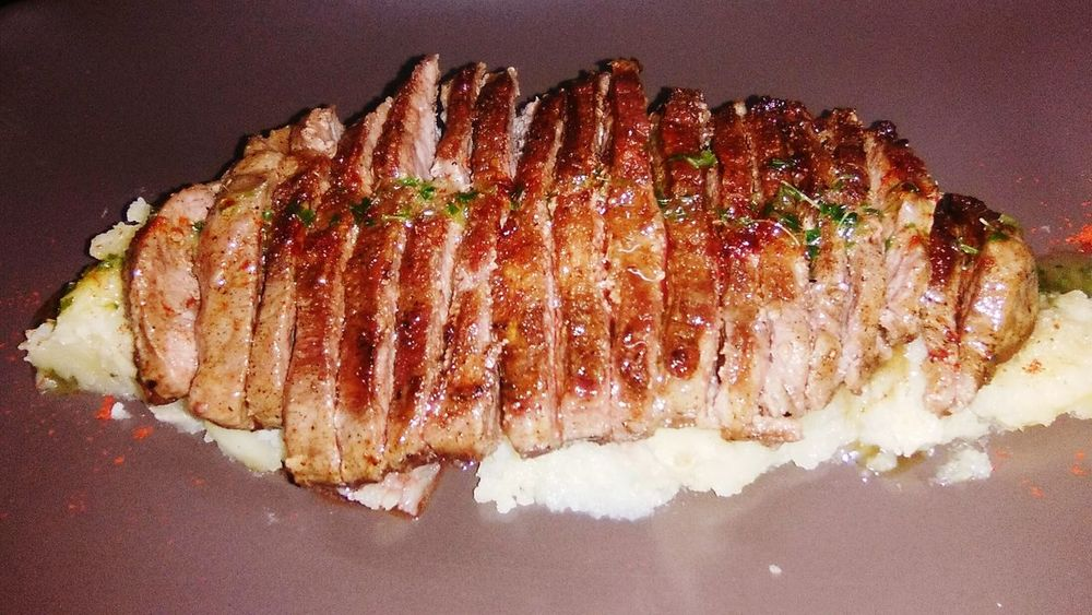 Eating Good Service Hungry Eating Good Service Great Atmosphere Dinner Pluma De Cerdo Iberico