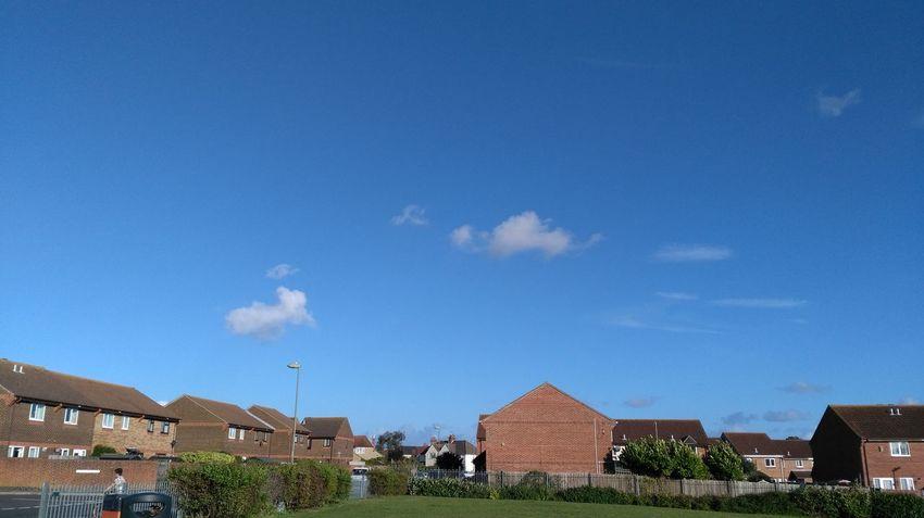 Blue Building Exterior Grass Sky Day Field Outdoors Randomshot