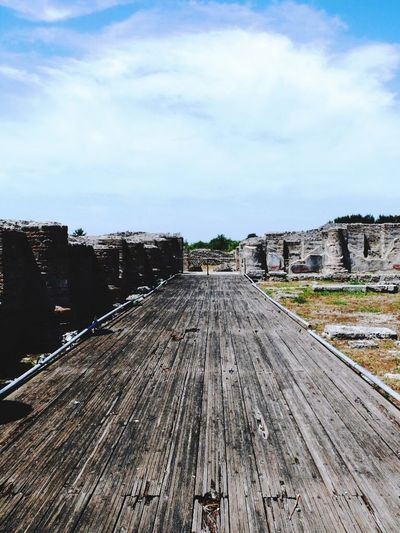 Weg Paestum Built Structure History Sky Cloud - Sky Architecture Outdoors Day No People Nature