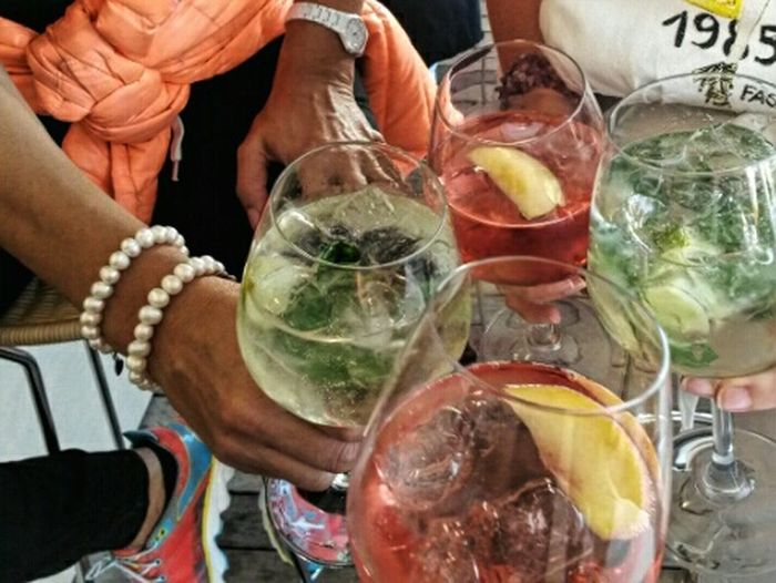 Aperitivo with friends Cocktails Aperitif Aperitivo Time Drinking Relaxing Quality Time Enjoying Life Ice Drinks Spritz Alcoholic Drink Pearls Jewelr Live For The Story