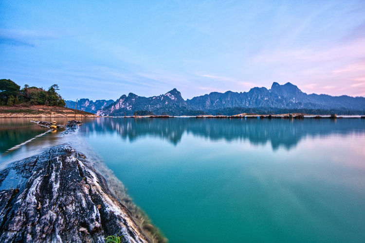 Sunset at khao sok in thailand