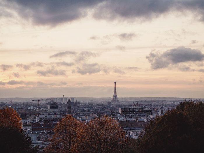 View of paris in autumn