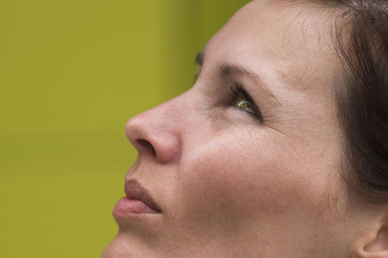 [Jupiter-37AM 135mm f/3.5 MC] Eye Girl Green Green Color Green Eye Headshot Human Face Natural Light Portrait Part Of Face Portrait Showcase June Woman Woman Portrait