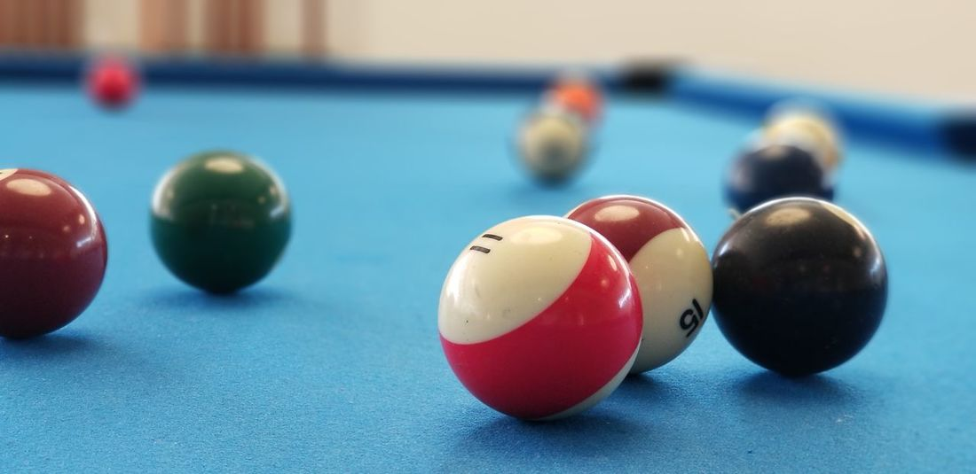 pools Eleven Stripes Indoors  Sport Focus On Foreground No People Pool Ball Pool Table Close-up Arts Culture And Entertainment Pool - Cue Sport Day Snooker