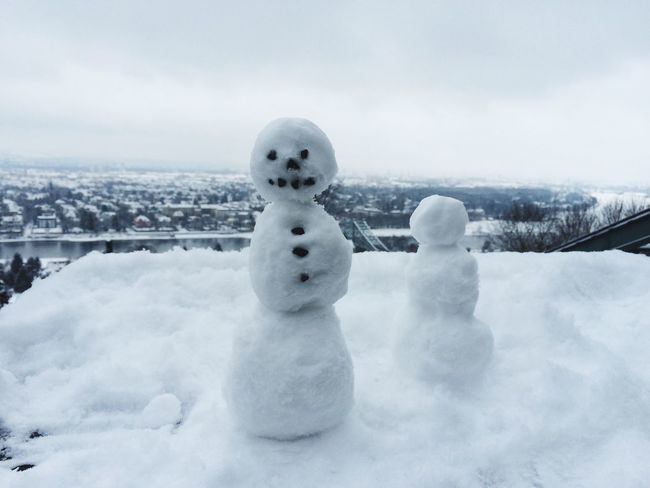Snow Snowman Winter in Dresden