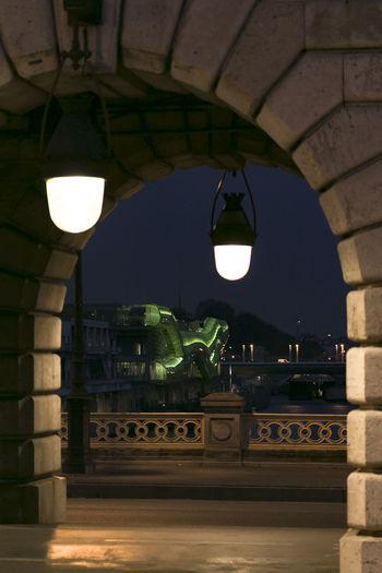 Parisian night #Paris Lantern City Arch Architecture Built Structure Arch Bridge River Bridge