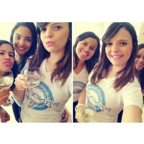 Le friends today <3 Pandora Friends Hoteliers MyLoves wesexy wehot wecute pinklips smile whitewine