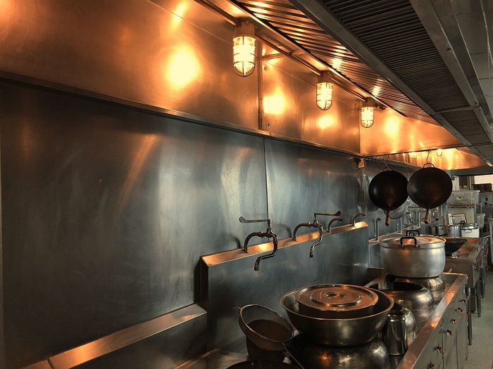 Indoors  Domestic Kitchen Kitchen No People Food And Drink Commercial Kitchen Preparation  Hanging Illuminated Stove Domestic Room Food And Drink Establishment Food Day
