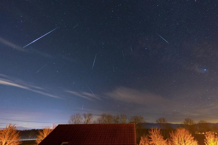 Geminid meteor showers