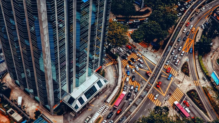Cityscape and lifestyle at Kuala Lumpur EyeEm Selects High Angle View Transportation City Aerial View Traffic Car City Life Road Architecture Street Built Structure Outdoors Cityscape Building Exterior Modern