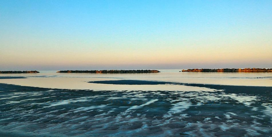 Luna Moon Mare Sea Paesaggio Landscape Orizzontale Horizontal Italia Igeamarina Rimini Freddo Ghiaccio Cold Ice Sunset Tramonto Gennaio  January 2017
