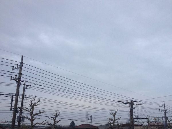 おはようございます。 IPhone 4S Morning Cloudy