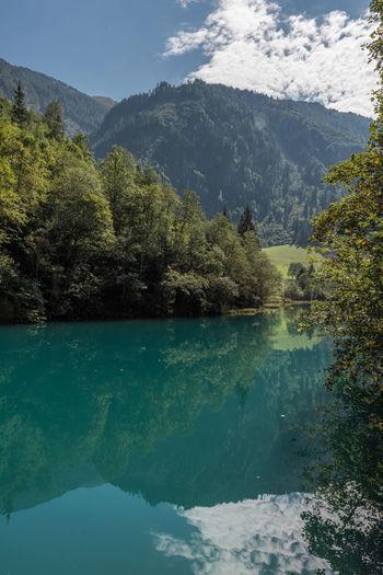 Gebirge Himmel Hohe Tauern Kapruner Ache Klammsee Pinzgau Salzburger Land Wolken Kaprun Reflektion See Tag Wandern Wasser Österreich