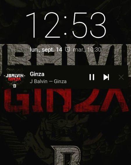 Escuchando un poco de Musica disfrutando de la tarde 😍 Ginza JBalvin