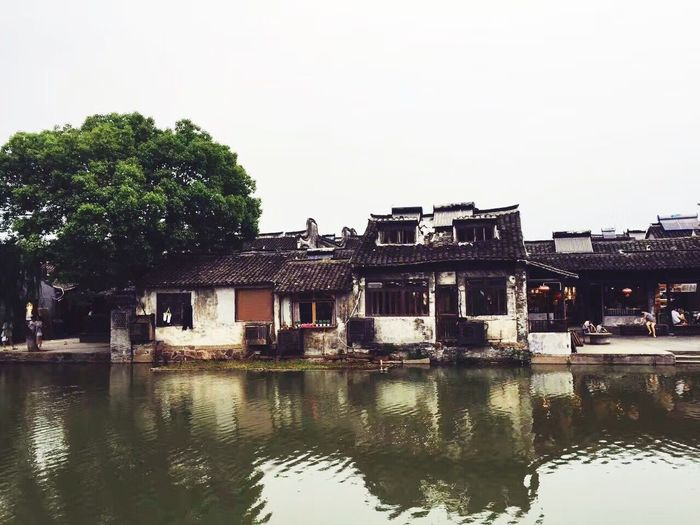 Xitang Water Building Exterior Built Structure Architecture Reflection House Outdoors No People Waterfront Day Tree Clear Sky Sky Nature
