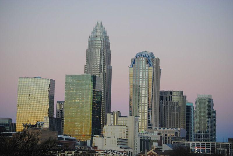 Charlotte Charlotte, NC CharlotteNC Duke Energy NC North Carolina Rainbow Colors Reflection Sky Sunrise UptownCharlotte