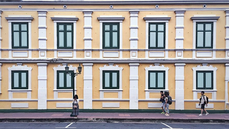 Long the way Architecture Building Exterior Built Structure City Street Window Adventures In The City Real People Group Of People Building People Outdoors City Life Activity Day