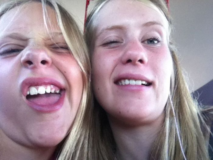 Such an 'attractive' pair Anotherdayofmylife:)) Wierdoozzz❤ Littlesister Sisters