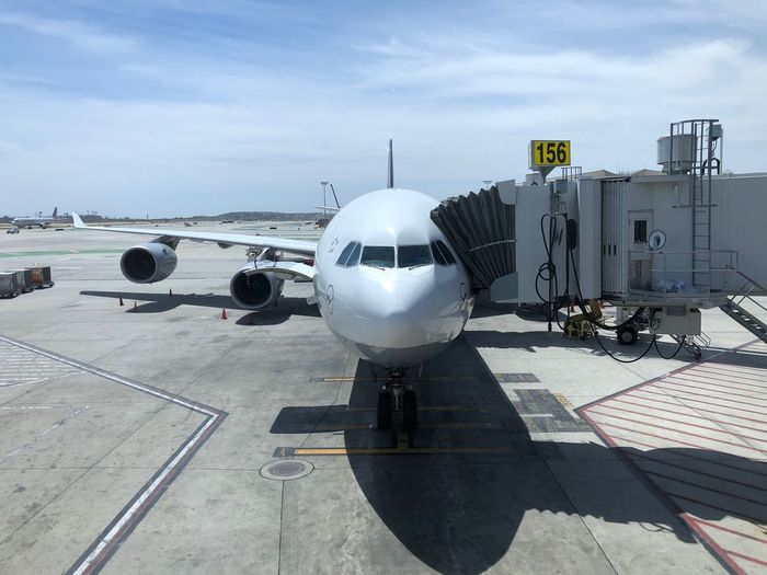 Time to go home! …at LAX for Lufthansa ✈️ LH457 back to FRA. Btw, Happy Cinco de Mayo. A346 Transportation Air Vehicle Mode Of Transportation Airplane Airport Sky Travel