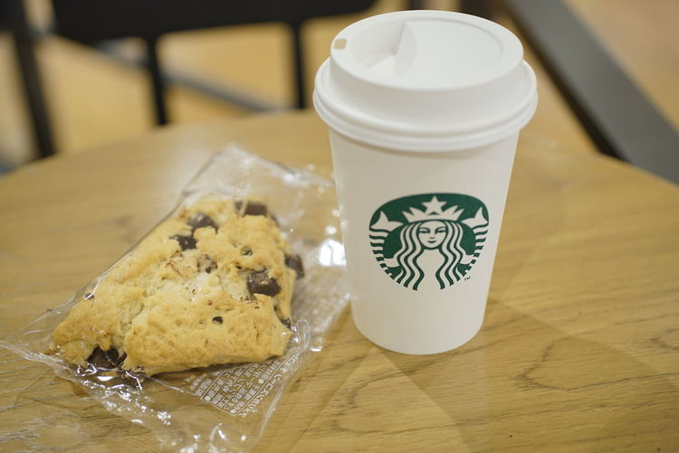 スターバックス Starbucks Double Tall Latte チョコスコ 一息 カフェ 休憩 Japan Tokyo Indoors  Table No People Food Close-up Day Freshness