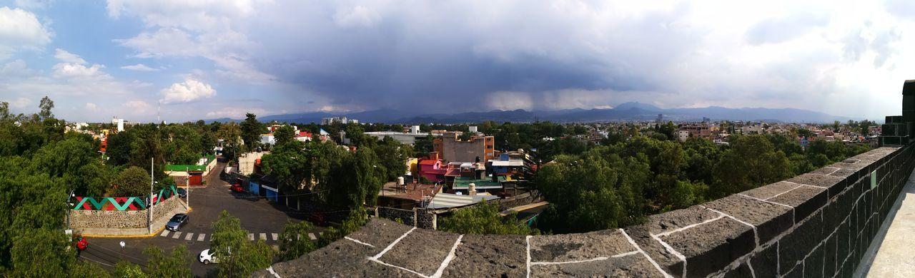 Museo Anahuacalli, CDMX Museum Ciudad De México Anahuacalli Tree City Sky Cloud - Sky Panoramic Urban Scene Cityscape