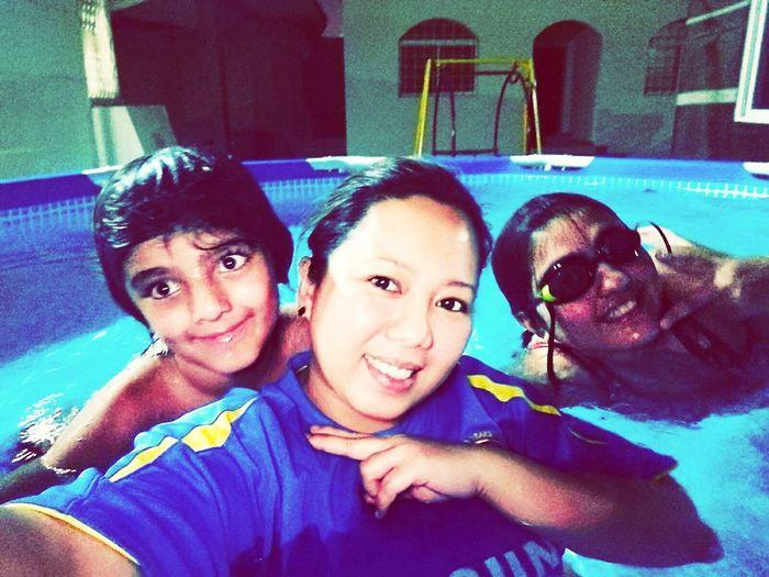 Nightswimming Withmybestbuddies Grandchildrenof my patient.. HumidinSaudi