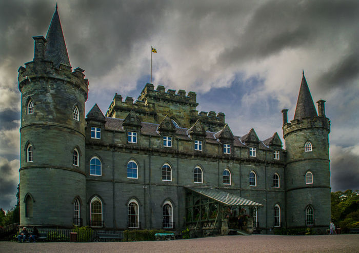 Inverary Castle, Scotland Inverary Inverary Castle Scotland Architecture Argyll Building Exterior Built Structure Cloud - Sky Day History No People Outdoors Sky Travel Destinations