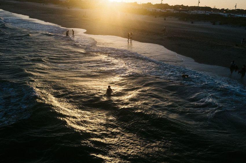 Emerald Isle,NC. 2016 Colour Of Life Sunset Sunset Silhouettes Beach Shore Water Waves, Ocean, Nature Waves Silhouette Clouds Clouds And Sky Emerald Isle North Carolina USA Tourism Fujifilm Eyeemphoto