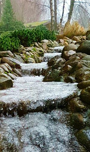 Hallbgefrorener Wasserlauf First Eyeem Photo