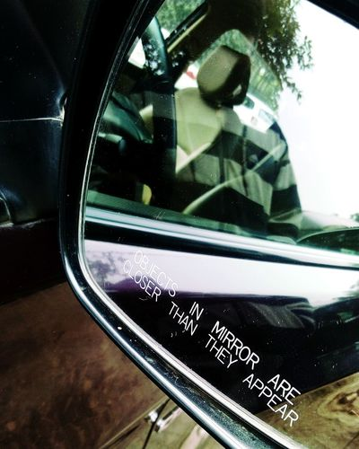 A mirror image Mirror Me In Mirror Image Withoud Without Head Seat Headrest In Place Of Head SSClickPics SSClicks SSClickpix Car Transportation No People Day Land Vehicle Close-up Outdoors