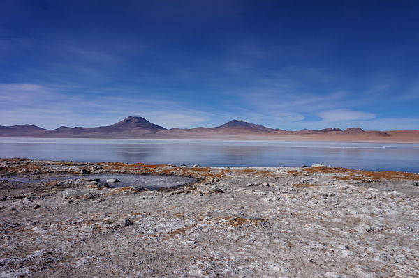 Beauty In Nature Bolivia Bolivia Uyuni BOLIVIA ❤ Day Laguna Charcota Landscape Mountain Nature No People Outdoors Salt - Mineral Salt Basin Salt Flat Scenics Sky South America Tranquil Scene Tranquility Water