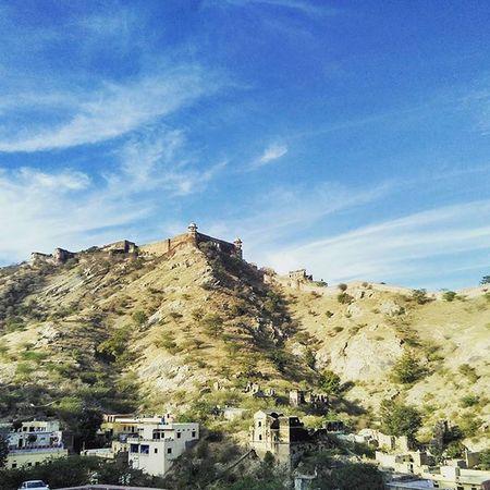 Sky or land 😍 Amerfortjaipur Jaipur Redmi Fort Landscape HDR Sky