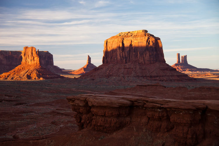 Beauty In Nature Geology Monument Valley Nature No People Outdoors Physical Geography Rock Formation Scenics Sunrise Tranquil Scene Travel Destinations