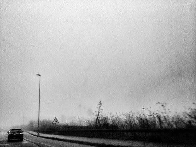 Fog Transportation No People Clear Sky Road Landscape Iphone5s Beauty In Nature Canary Islands Car
