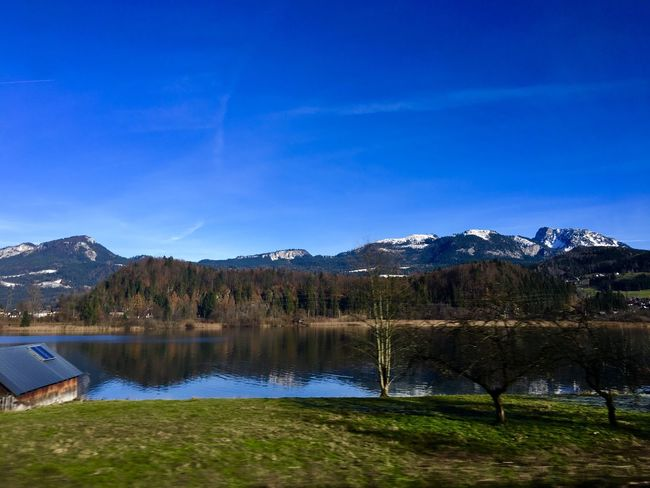 From The Car Window Water Reflections Landscape_photography Lake View Austria ❤ Steeg