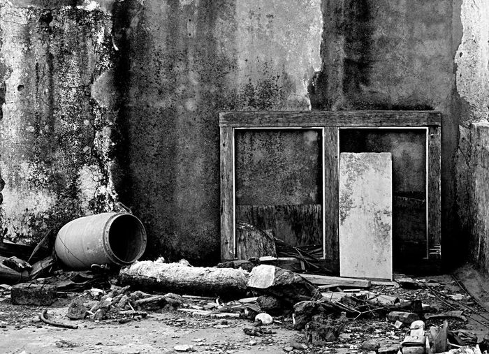 Abandoned Built Structure Destruction Architecture Damaged Building Exterior Rusty Outdoors Pipe - Tube India Lifestyles Bestfromwaste Indore IndiasCleanestCity