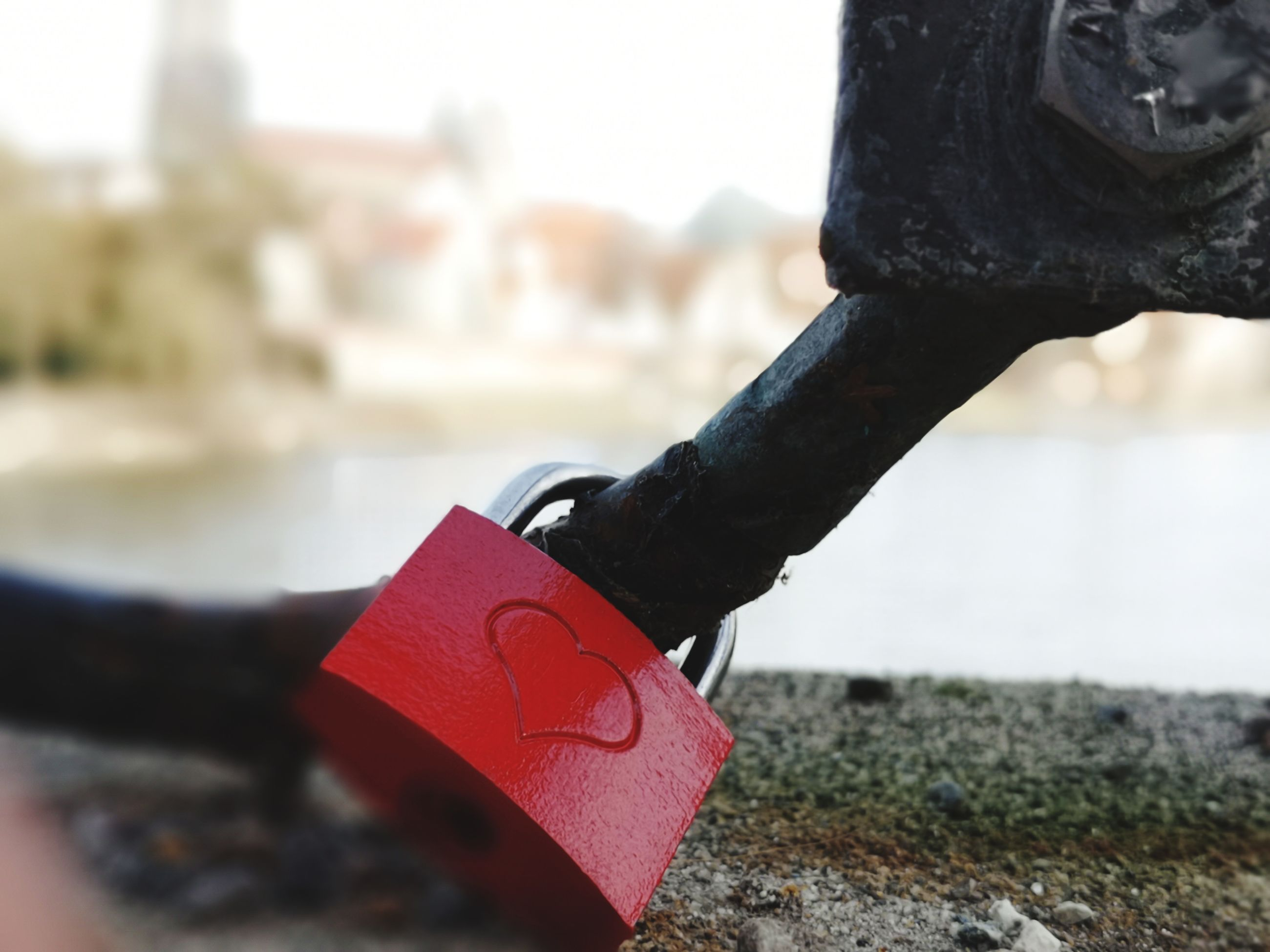 focus on foreground, close-up, emotion, day, positive emotion, love, red, no people, padlock, lock, heart shape, metal, security, safety, protection, outdoors, architecture, selective focus, solid, love lock