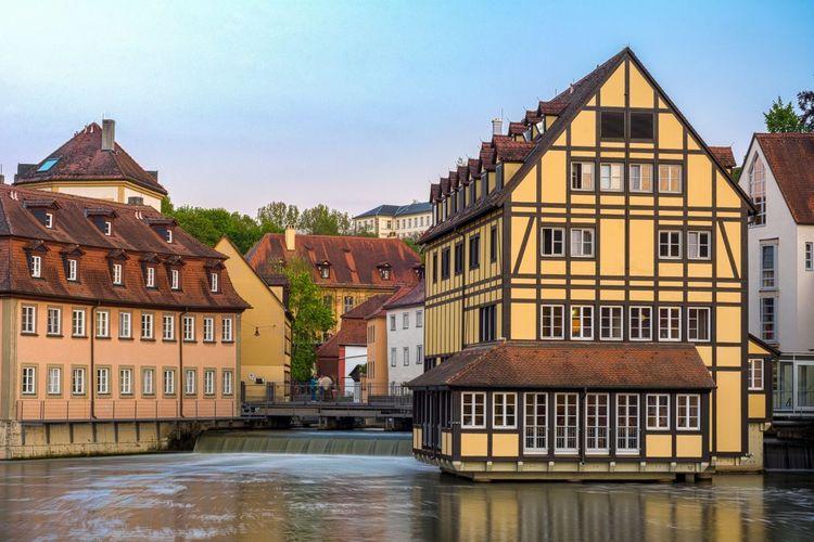 Eckerts Hotel Bamberg Bamberg  Hotel Bayern Germany Bavaria Deutschland Europe Franken HDR Sunset Mühle Unesco Regnitz Bridge Brücke