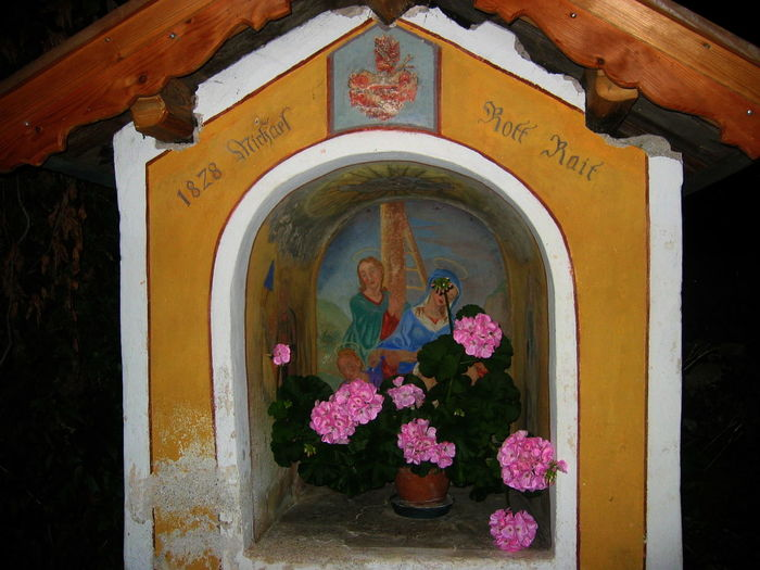 Arch Art Decoration Fiè,sudtirol Flash Flowers Historic Image Night Religion Votive Chapel