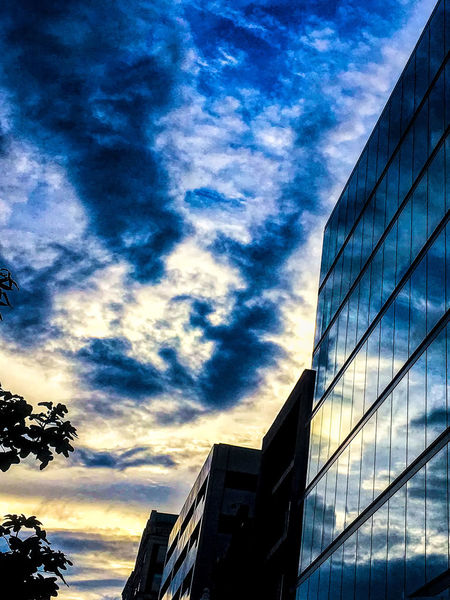 Glass walls Abstract Photography Architecture Blue Building Building Exterior Built Structure City Cloud - Sky Conceptual Photography  Day Financial District  Glass - Material Low Angle View Modern Nature No People Office Office Building Exterior Outdoors Reflection Sky Skyscraper Sunset