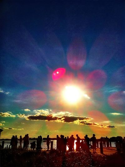 Celebrating sunset. Celebrating Sunset.
