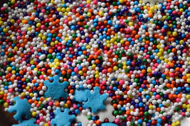 High angle view of sprinkles