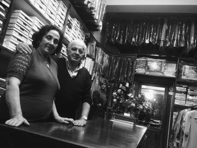 Lovely Couple and their shop in an Italian town where I stayed recently Shootermag NEM Black&white Italia TheMinimals (less Edit Juxt Photography)